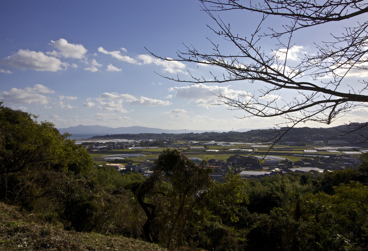 Hidden Christian Sites in the Nagasaki Region:Looking toward the former castle town from the ruins of Hinoe Castle keep